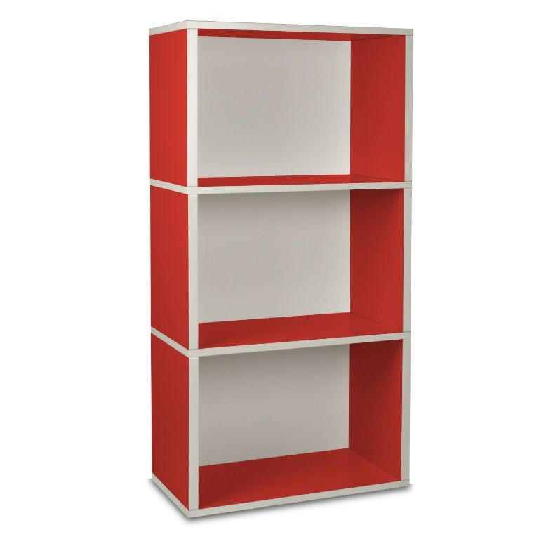 Rectangle Plus 3 Shelf   Red