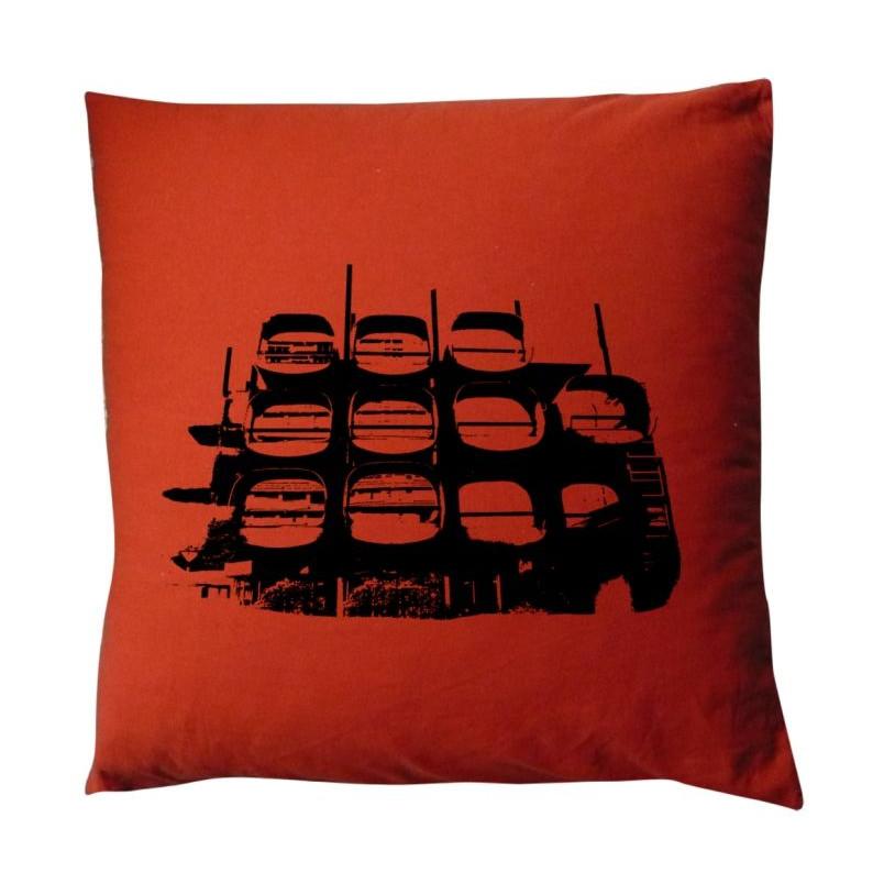 Floor Cushion Building Orange