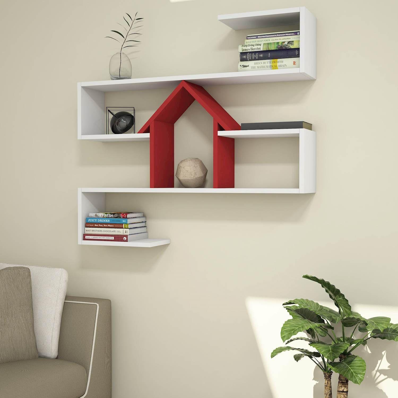 Shelf Nest   White & Red