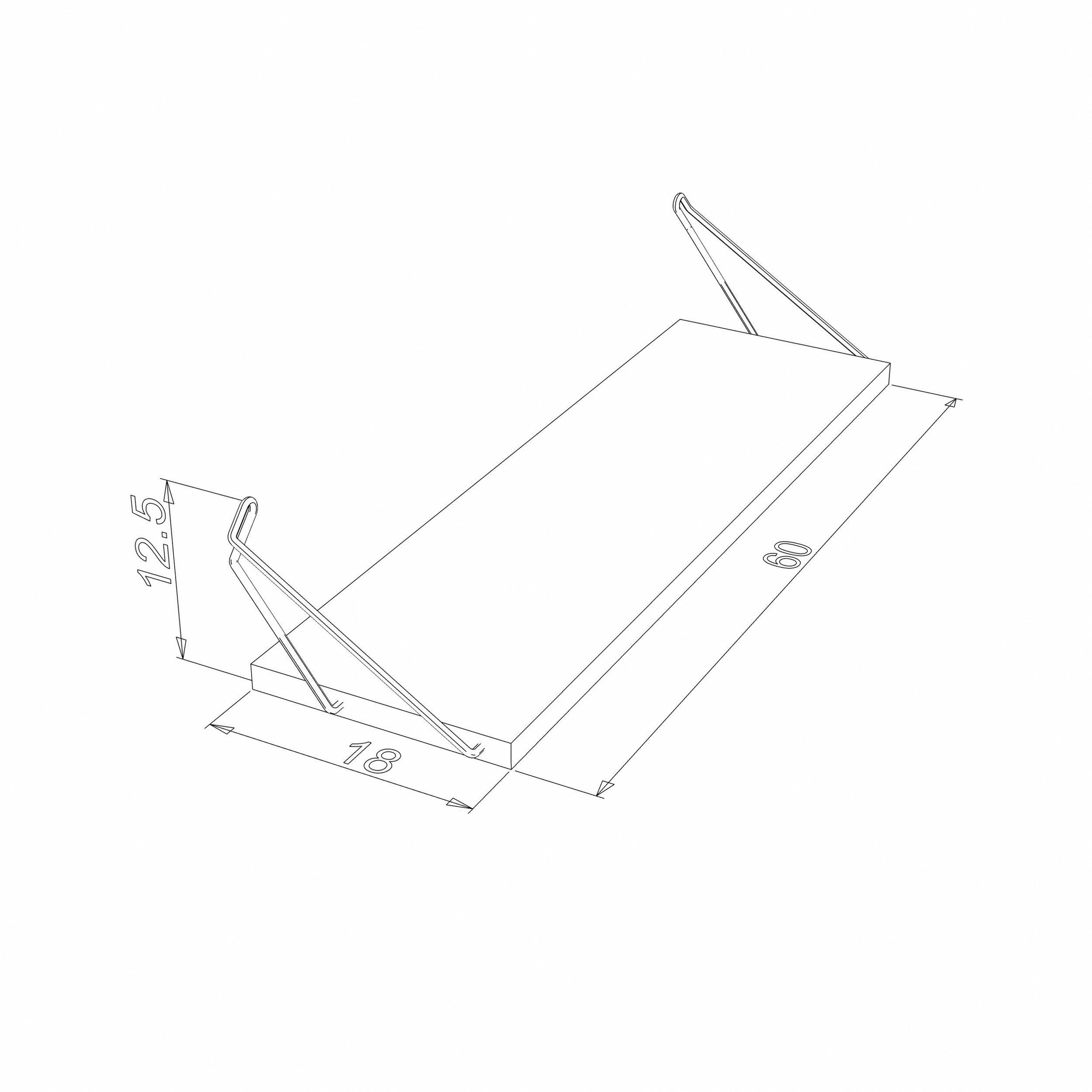 Shelf Altai Set of 3 | White & Chrome
