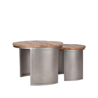 Couchtisch Set Bunch   Mango Holz - Vintage Metall
