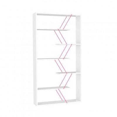 Bücherregal Tars   Weiß & Pink