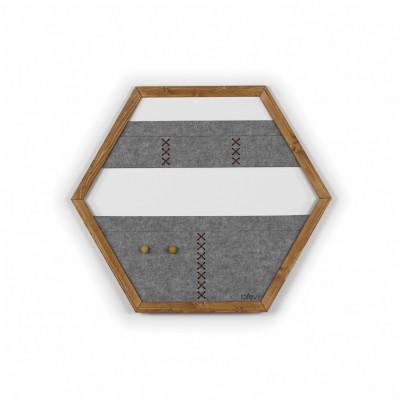 Geometric Organizer Tuva   Wood & Grey & Brown Details