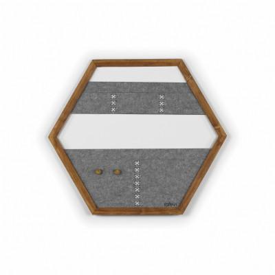 Geometric Organizer Tuva   Wood & Grey & White Details