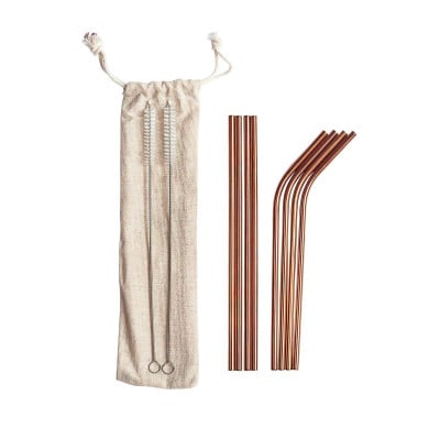 Straw Set   Stainless Steel