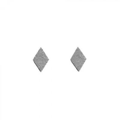 Ohrringe RHOMBUS | Grau