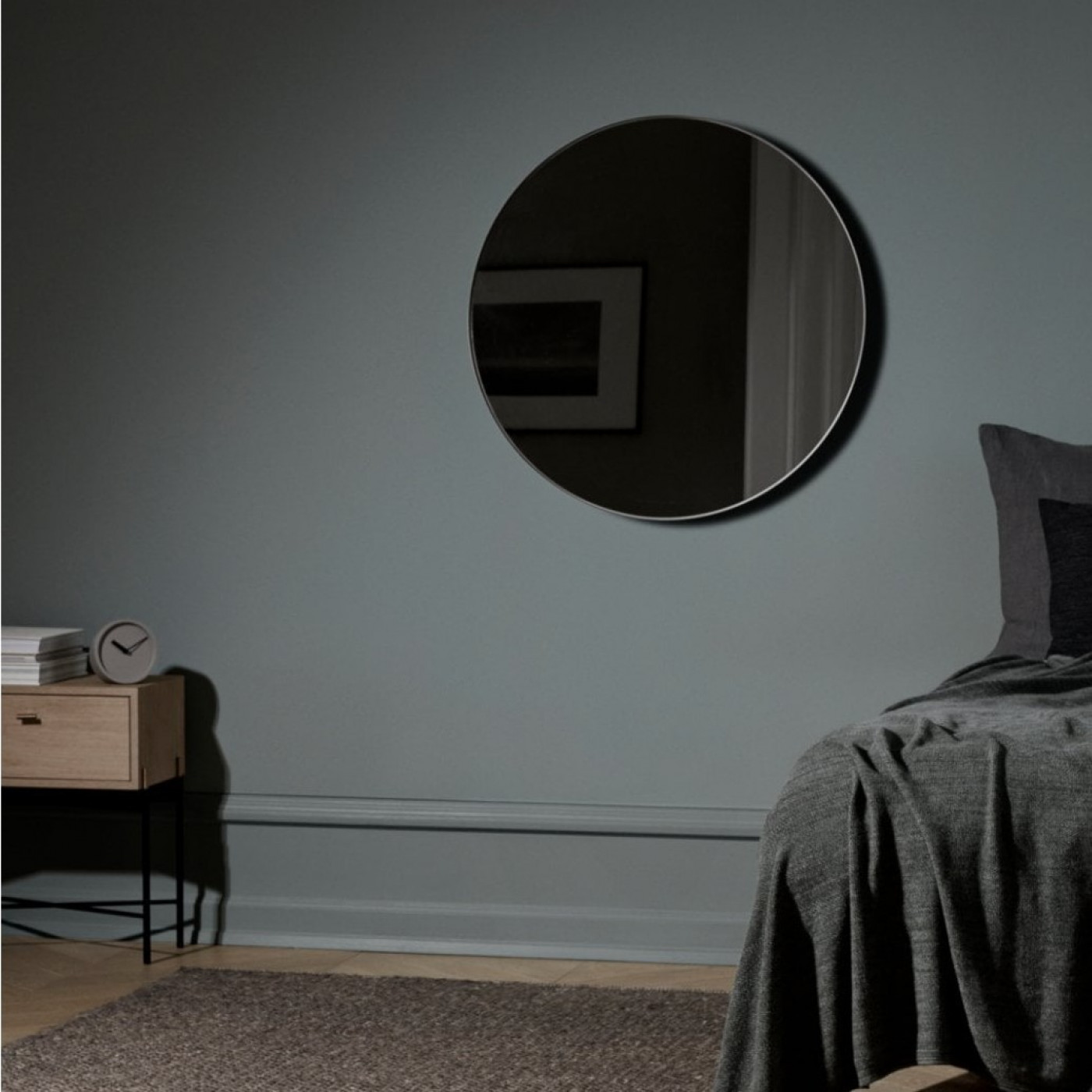 Wandspiegelrand | Hellgrau