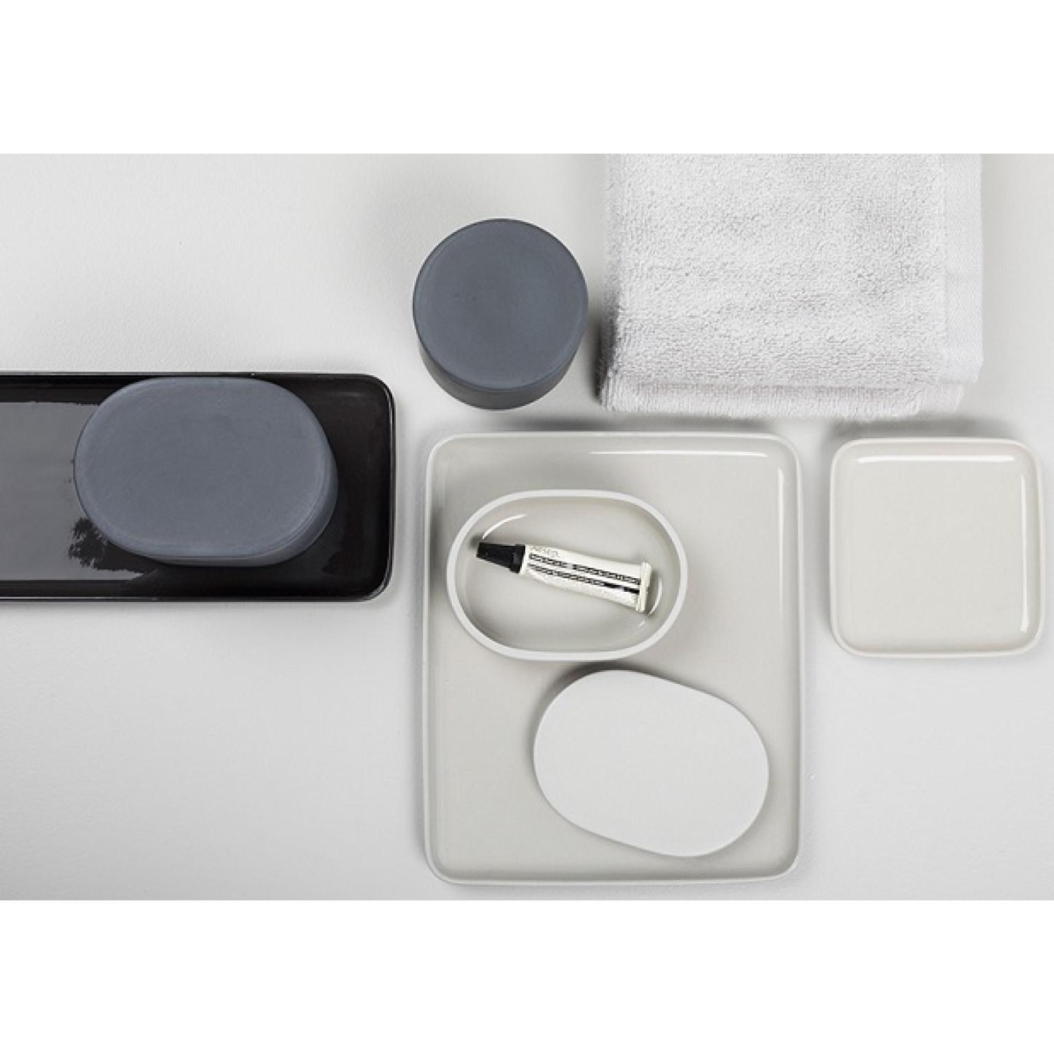 Quadratisches Tablett Cose | Grau