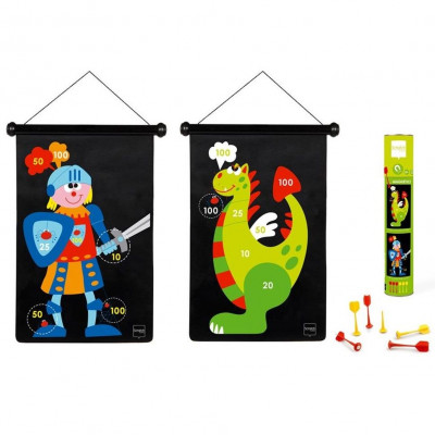 Magnetic Darts Game   Knight & Dragon