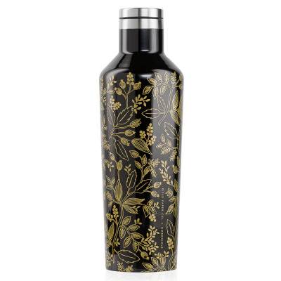 Trinkflasche Canteen Rifle Paper 475 ml | Gloss Black Queen Anne