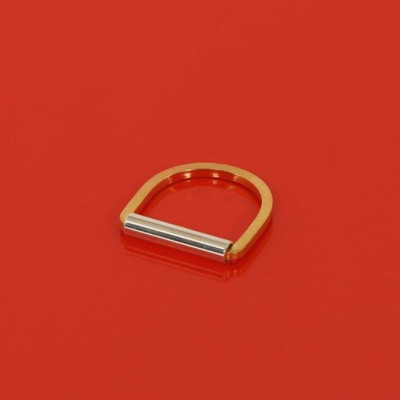 Rim Ring   Goldplated Silver