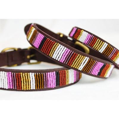Rio Dog Collar Large | Brown Leather