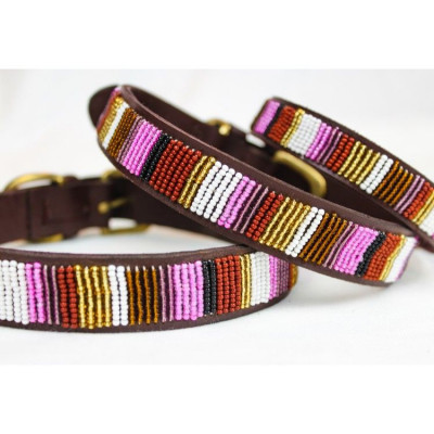 Rio Dog Collar Small | Brown Leather