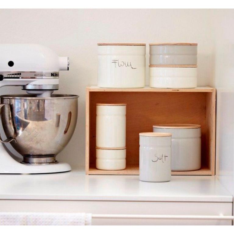 Kitchenmanagement Lichtgrijze Pot 525ml