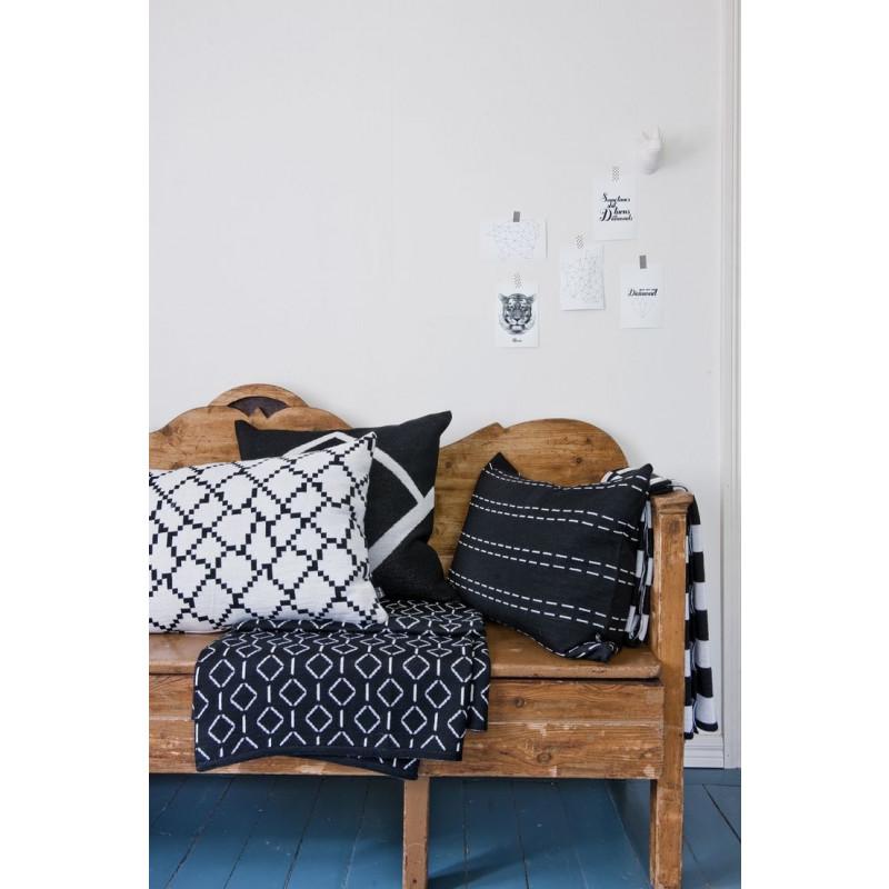 Seitti Kussenovertrek | Zwart & Wit