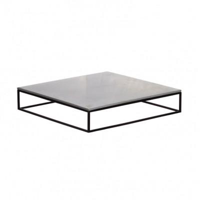 Mini MoonSquare Beistelltisch   Schwarzes Stahlgestell / graue Tischplatte
