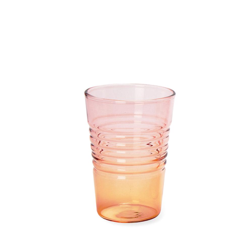 Glas Ombre Low | Rosa Orange