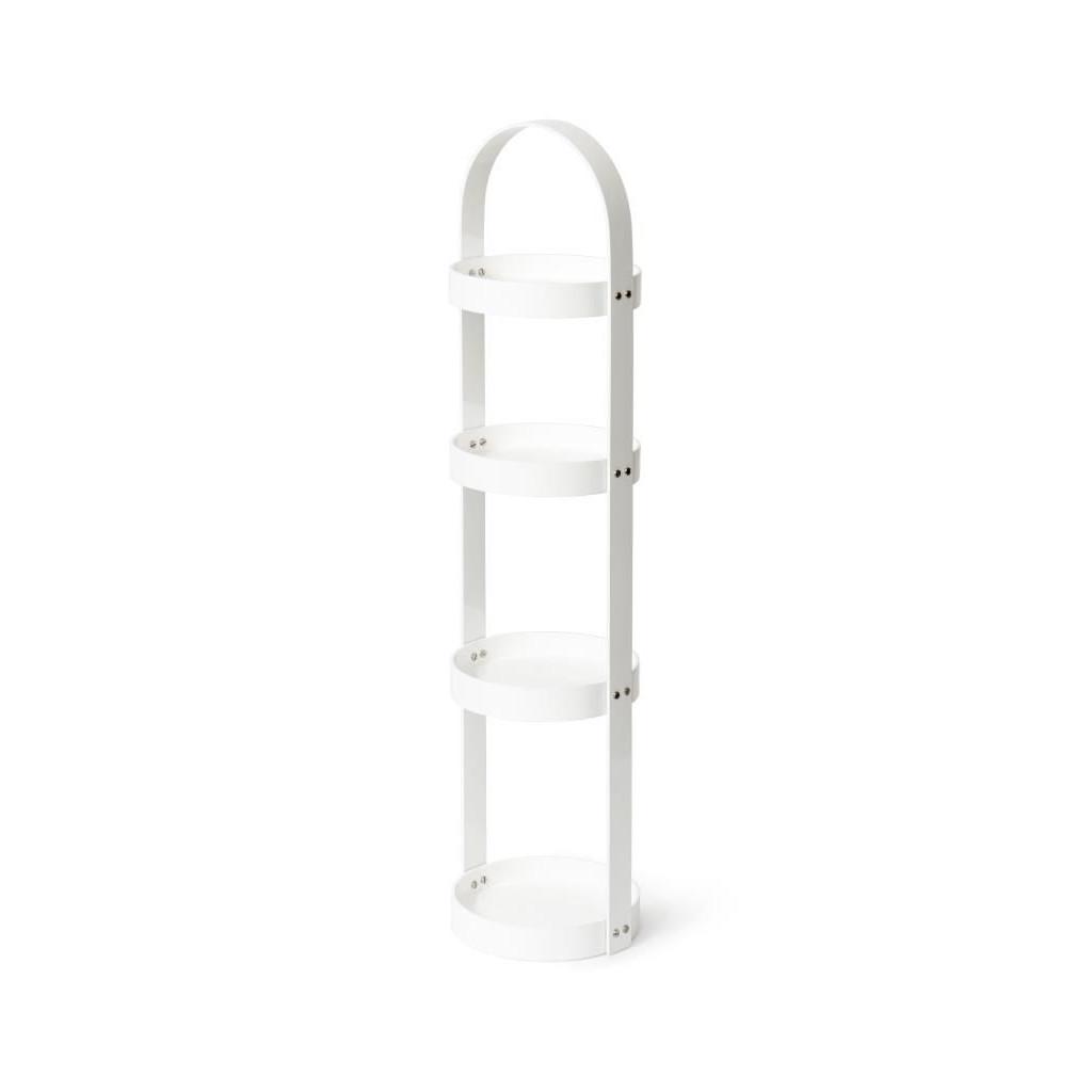Caddy Mezza Rond 4 Etages | Blanc Brillant