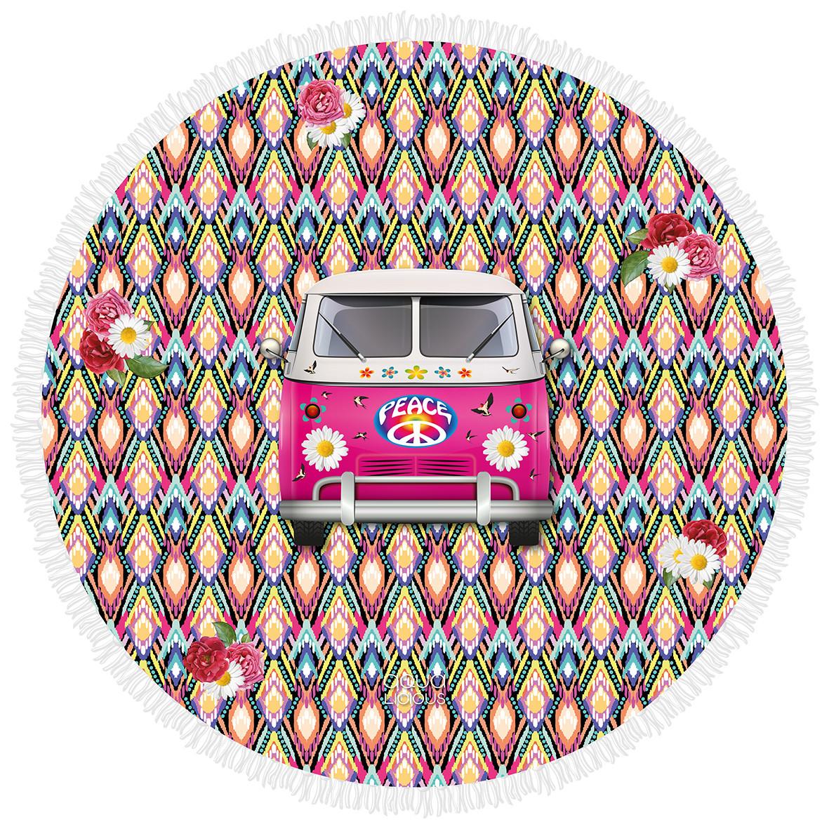Roundie Strandtuch Hippie-Wagen