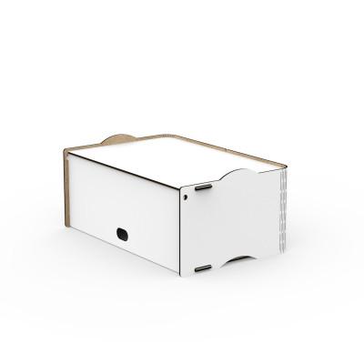 Einseitige Box Rock 36x23,5x16 cm | Weiß