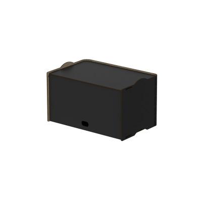 Einseitige Box Rock 36x23,5x21 cm | Schwarz
