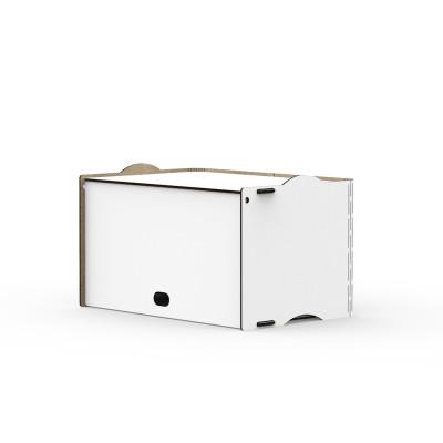 Einseitige Box Rock 36x23,5x21 cm | Weiß