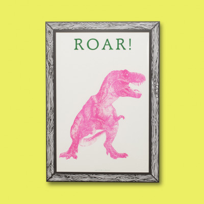 Art Print Roar! | Pink