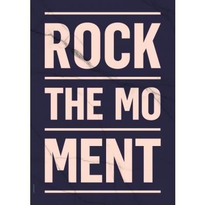 Frühling-Marmor-Poster   Rock The Moment - Dunkel