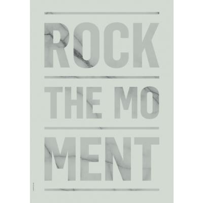 Frühling-Marmor-Poster   Rock The Moment - Grün