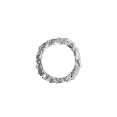 Rock Ring Silber   Breit