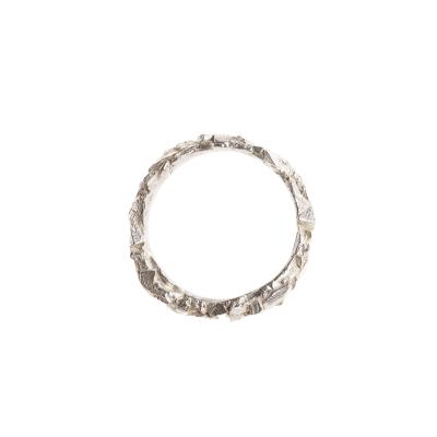 Rock Ring Silber   Dünn