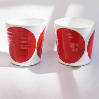 TINA Mug Set of 2   Red