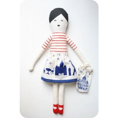Ich liebe Paris Puppe Rot