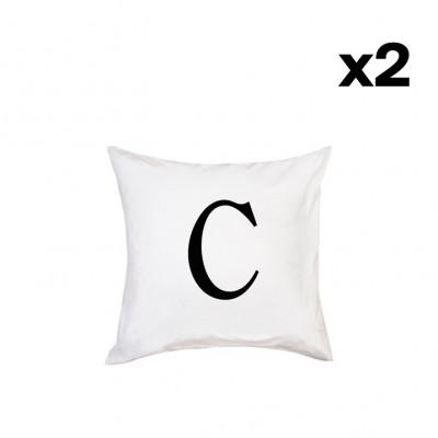 2er-Set Kissenbezügen | C