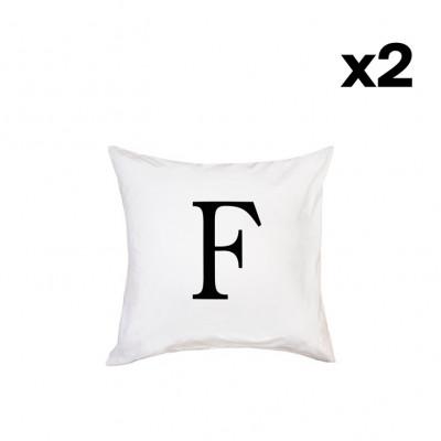 2er-Set Kissenbezügen | F-40 x 80 cm