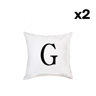 2er-Set Kissenbezügen | G