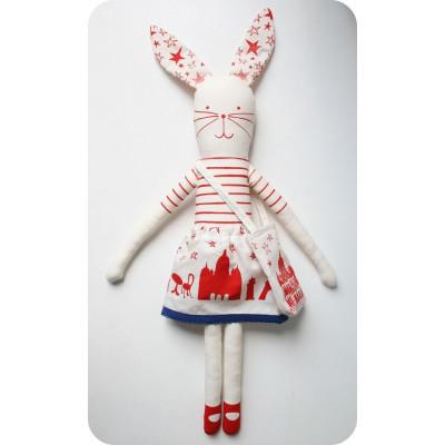 Ich liebe Paris Kaninchen Rot