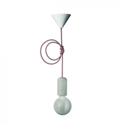 Concrete Pendant Lamp | Red-White
