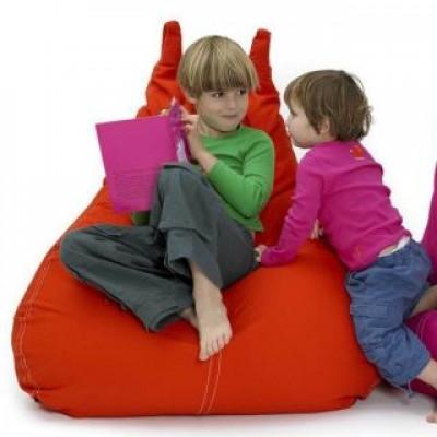 HappyCat Sitzsack aus Baumwollsegeltuch Groß   Rot
