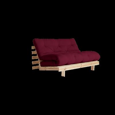 Sofa Bed Roots 140 | Raw/Bordeaux