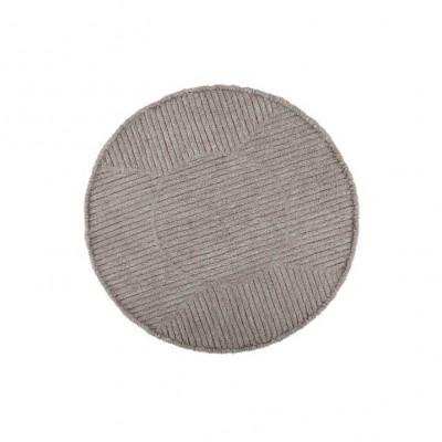 Wollteppich | Rosentee | Grau
