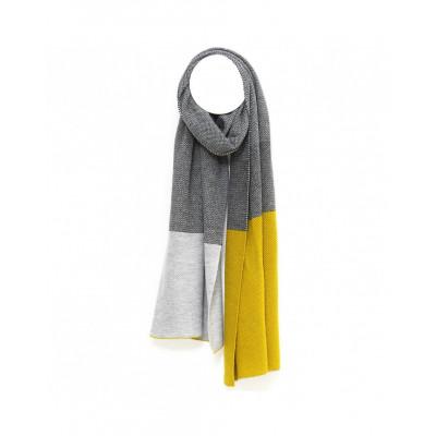 Rosetta Scarf | Grey - Yellow
