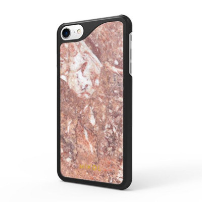 Marble iPhone Case | Rosso Verona with Black Border