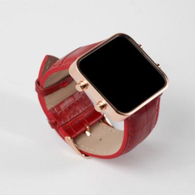 Digital Watch | Gold, Red