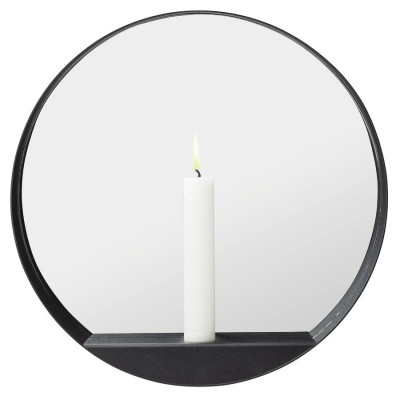 Kerze Mirror Round Glim   Schwarz