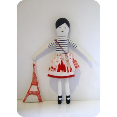 Ich liebe Paris Puppe Blau