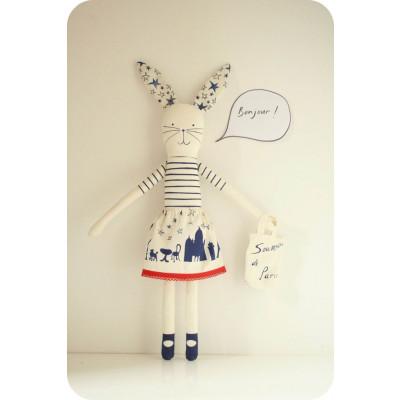 Ich liebe Paris Kaninchen Blau