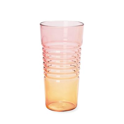 Glas Ombre High   Rosa Orange