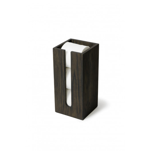 Toilet Roll Holder Mezza   Dark Wood