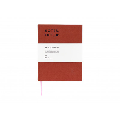Canvas Covered Notebook - Rust Red